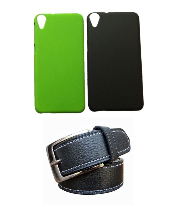 Winsome Deal Black Belt with 2 Back Cover Cases for HTC Desire 820