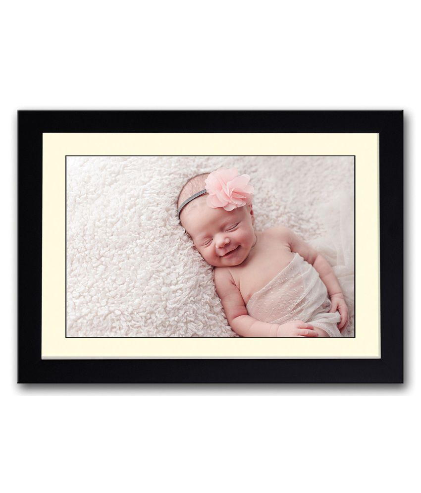 Artifa Matte Cute Sleeping Baby Smiling Painting With Metal Frame