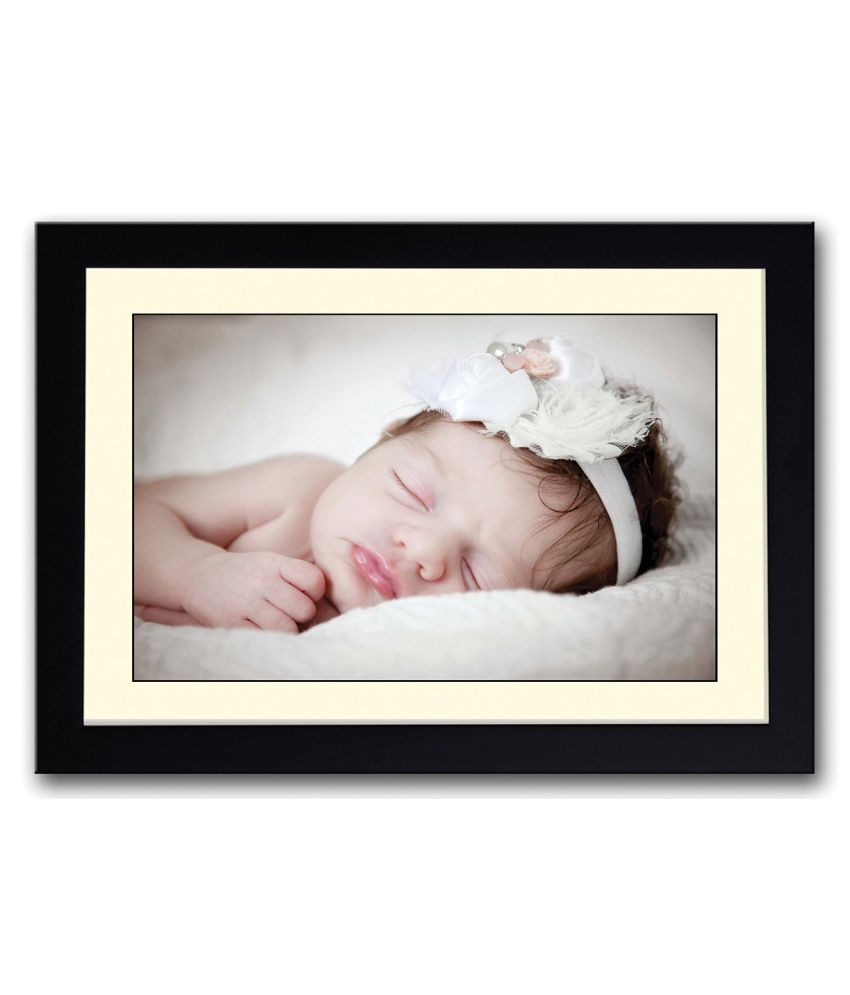 Artifa Matte Sweet Little Baby Girl Painting With Metal Frame