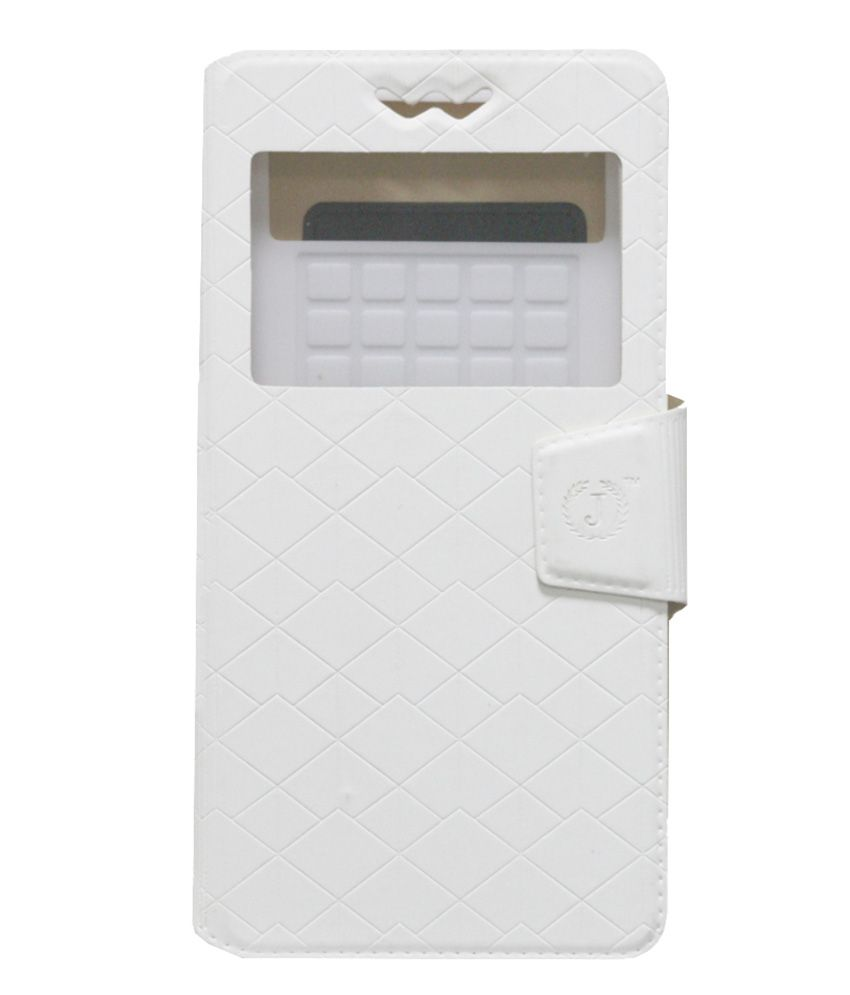 Jo Jo Flip Cover For iBall Andi 5h Quadro White available at SnapDeal for Rs.590