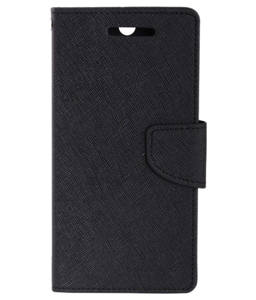 Mercury Goospery Flip Cover For Samsung Grand 3 G7200 - Black