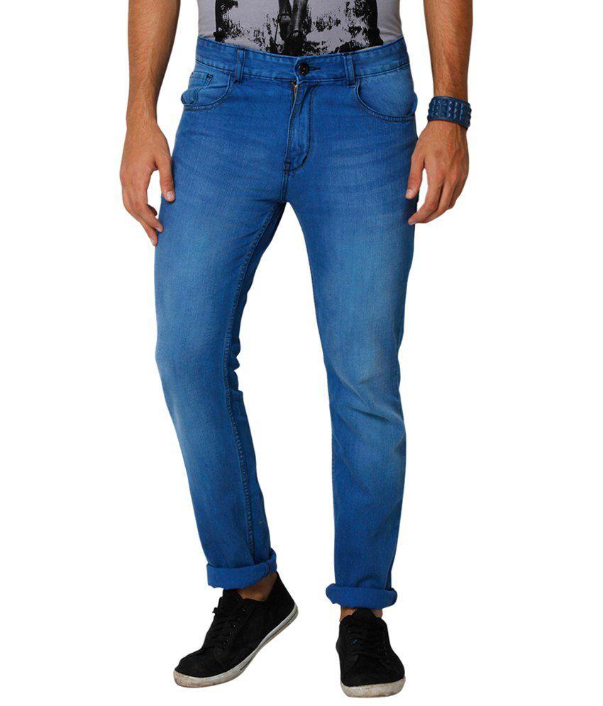 Yepme Blue Fedor Premium Regular Fit Denims for Men
