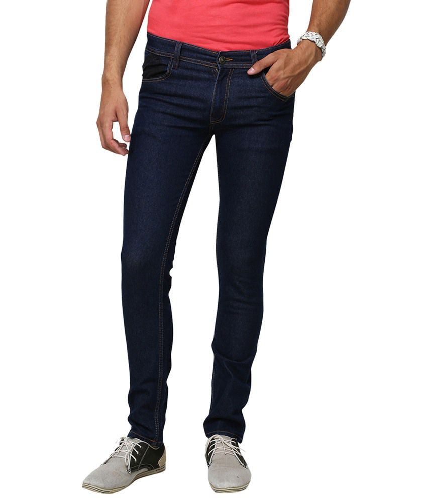 Yepme Navy Blue Manfred Slim Fit Denims for Men