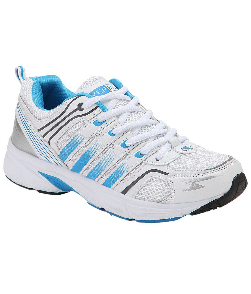 Yepme White \u0026 Blue Premium Sports Shoes
