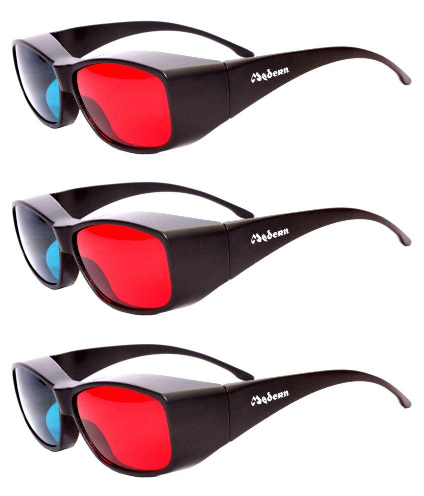10f61bff2cf Buy Modern Anaglyph Red   Blue 3D Glasses Set Of 3 Online at Best Price in  India - Snapdeal