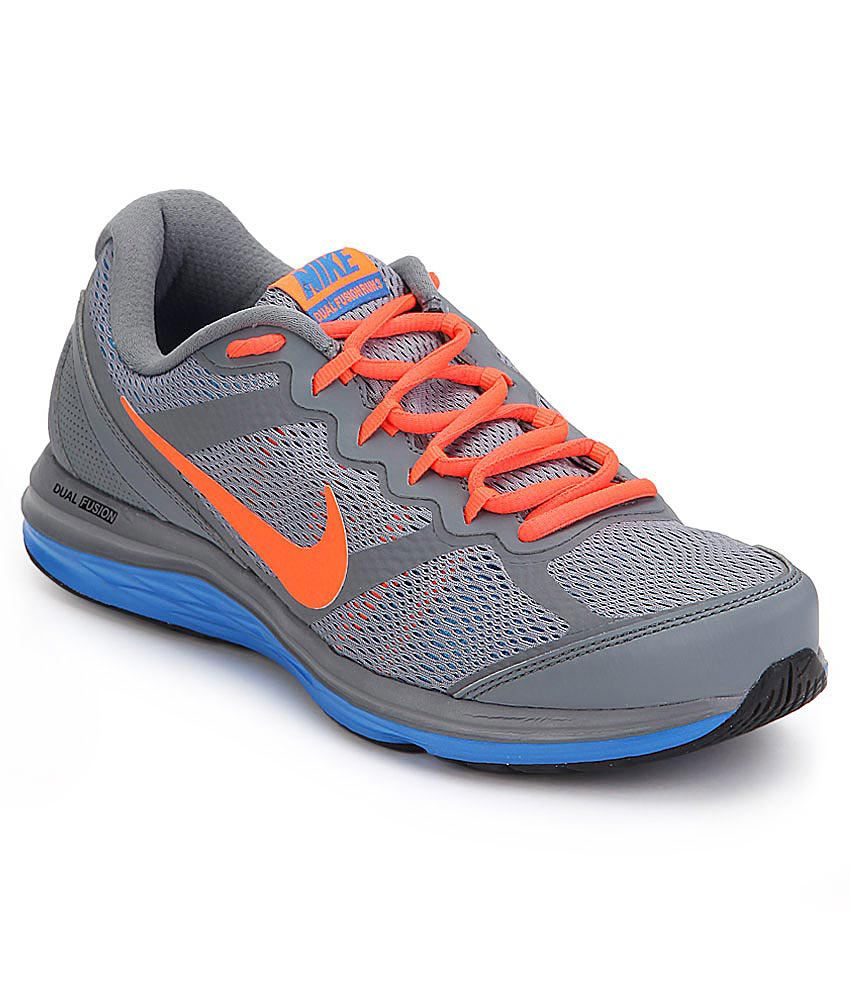 164105c17271a Nike Dual Fusion Run 3 Msl Gray Sports Shoes - Buy Nike Dual Fusion Run 3  Msl Gray Sports Shoes Online at Best Prices in India on Snapdeal