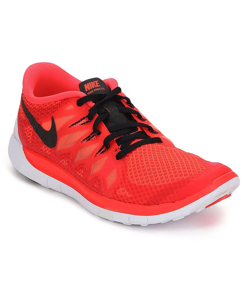 Nike Free 5 Orange Sports Shoes For Kids Price in India ...