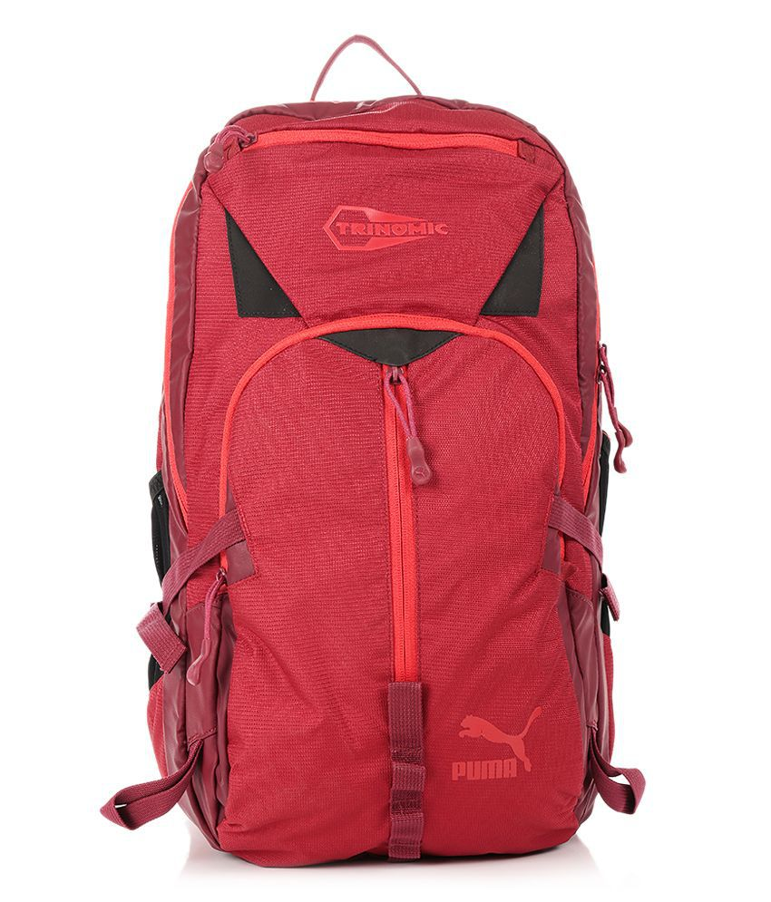 97f21f79cb Puma Trinomic Red Backpack - Buy Puma Trinomic Red Backpack Online at Low  Price - Snapdeal