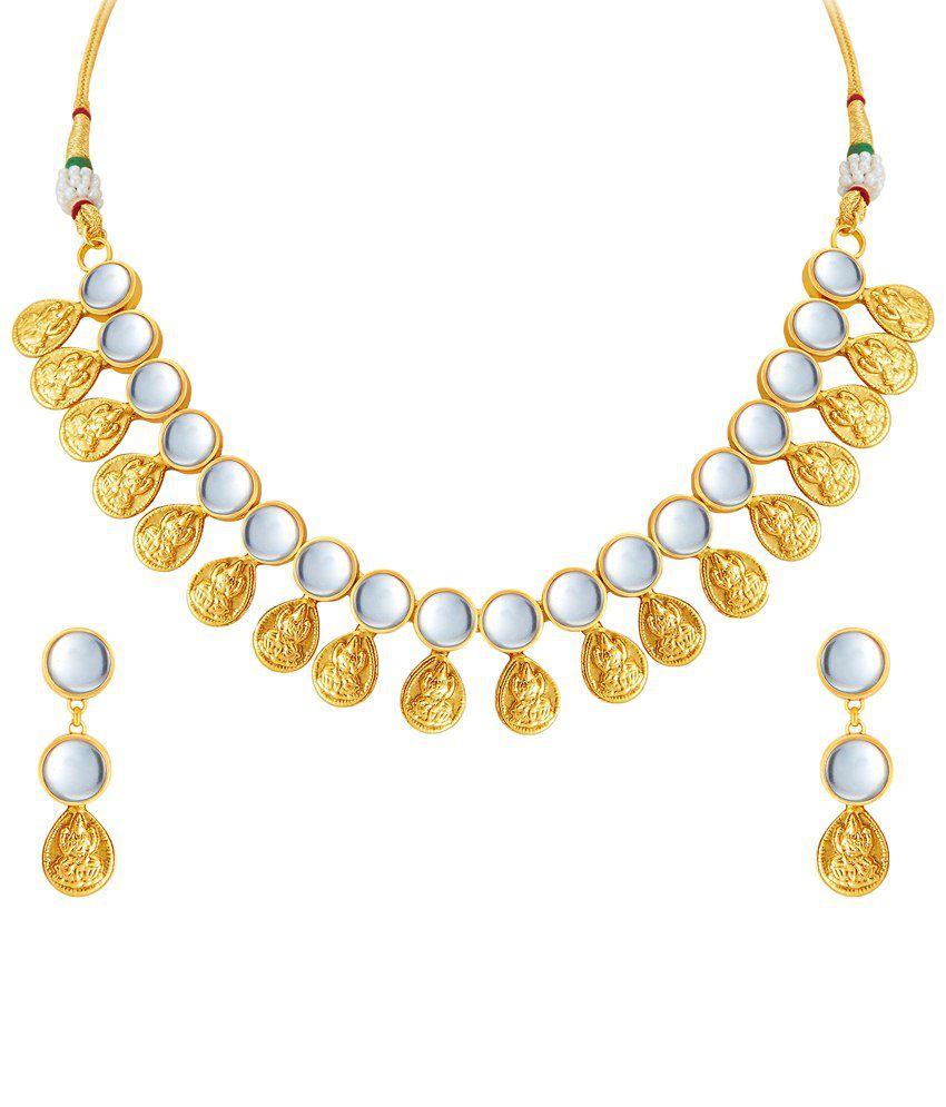 Sukkhi Glamorous Gold Plated Temple Necklace Set