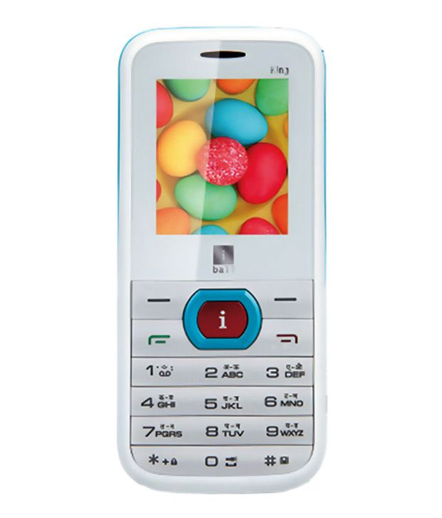 iBall King 1.8D Dual SIM Mobile Phone-White & Blue