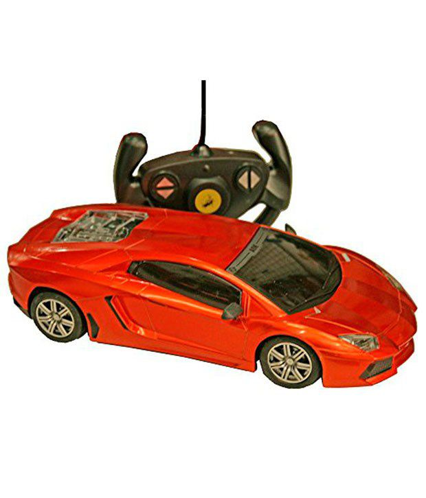Adraxx Red Plastic 1:18 Scale RC Sports Car Model Toy