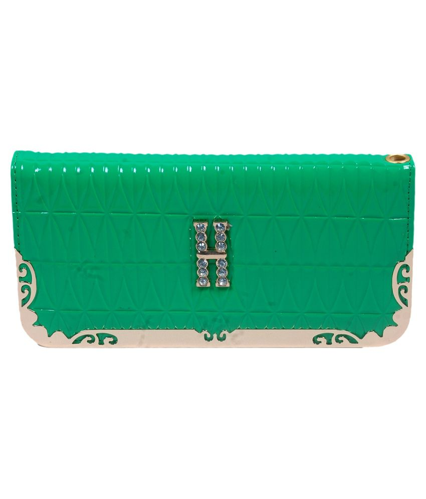 MCT Green Non Leather Fashionable Regular Wallet for Women