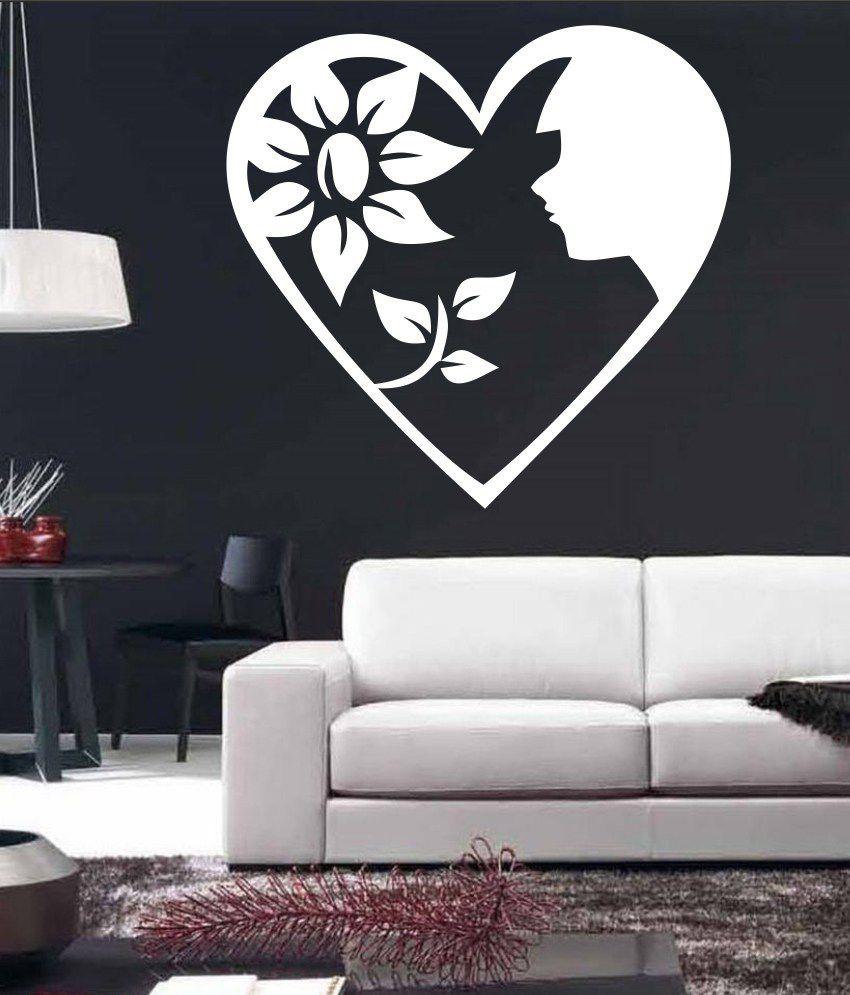wall1ders girl flower in heart white 18 buy wall1ders