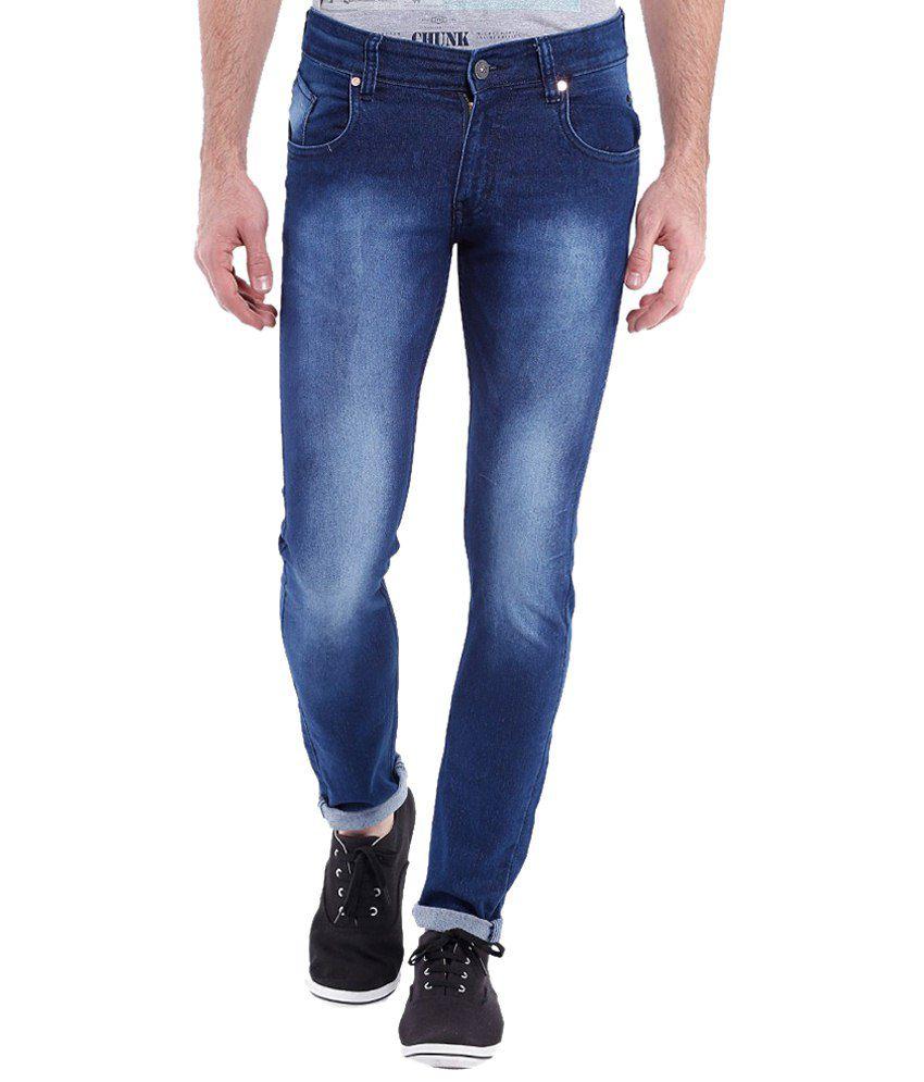 Vintage Superb Dark Blue Slim Fit Jeans for Men
