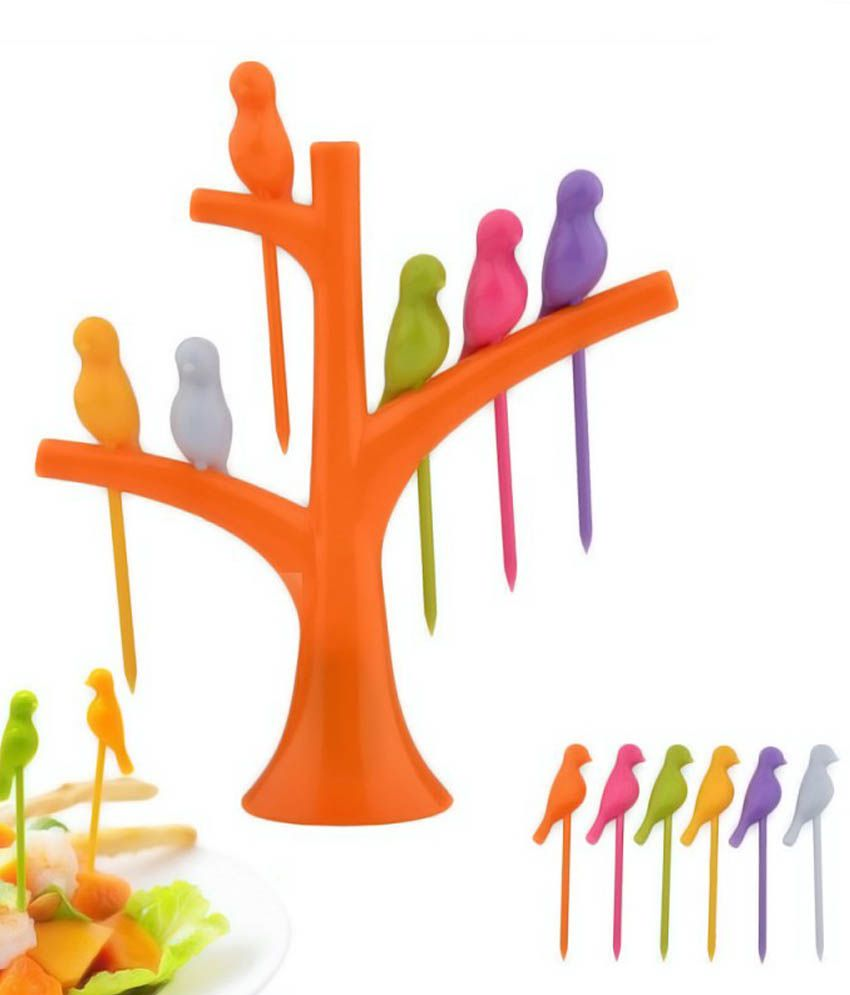 Youniqueshop 4 Best Price in India on 19th January 2018  : Youniqueshop Multicolor Birdie Fruit Fork SDL894622561 1 36465 from www.dealtuno.com size 850 x 995 jpeg 50kB