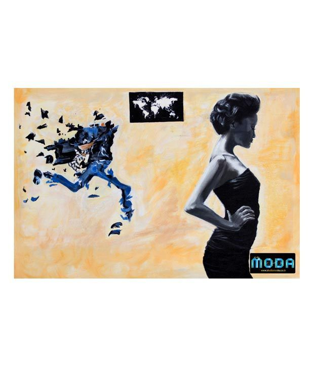 Studio Moda Black Fast Fashion Painting