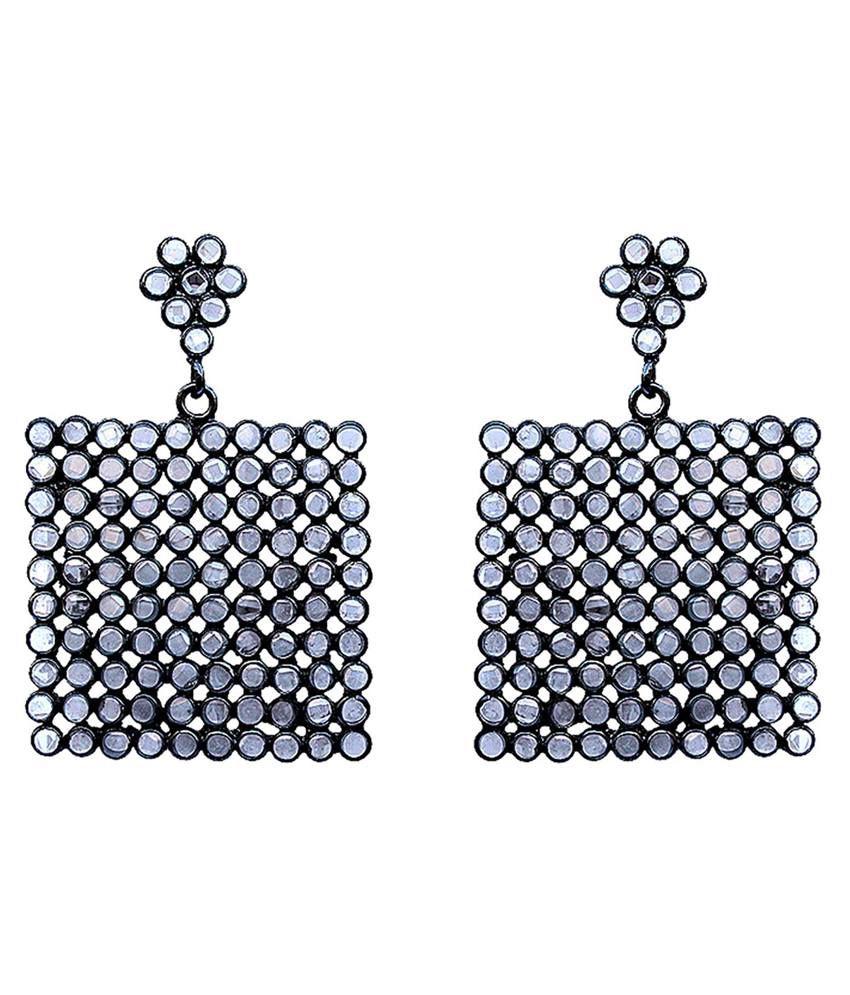 Oscar Diva Silver Brass Earring