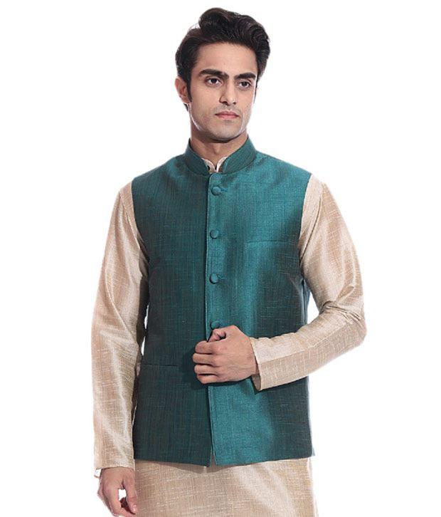 Tag 7 Green Semi-Formal Nehru Jacket