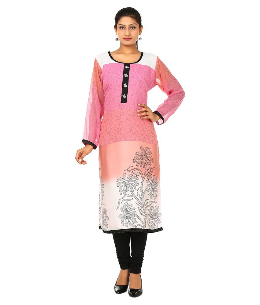 FPC Creation Pink Cotton Kurti