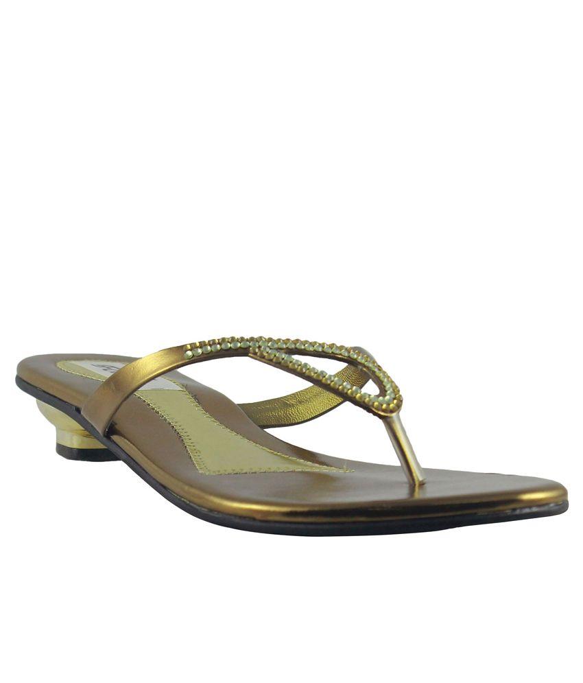 Faith Golden Heel Slip Ons
