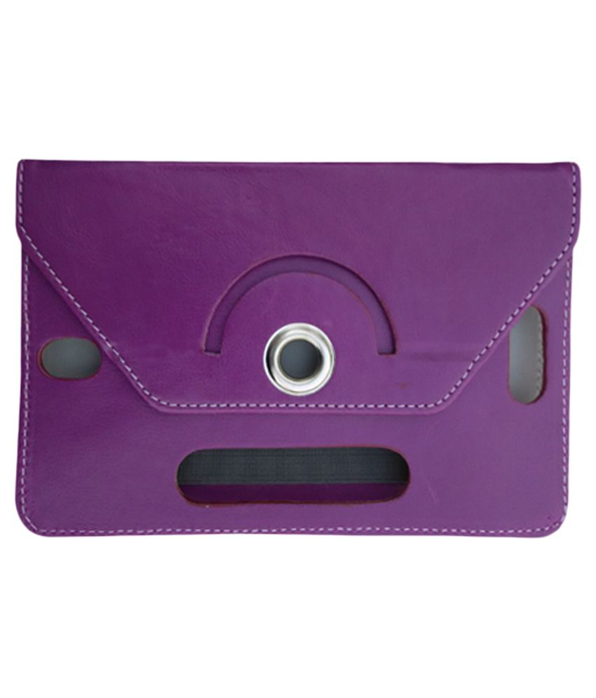 Fastway Rotate Tablet Book Cover For Dell Venue 8 Ven 8 - 3333 - Purple