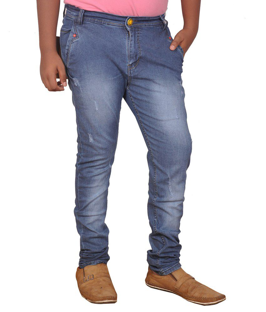 Friendslikeyou Blue Slim Fit Jeans
