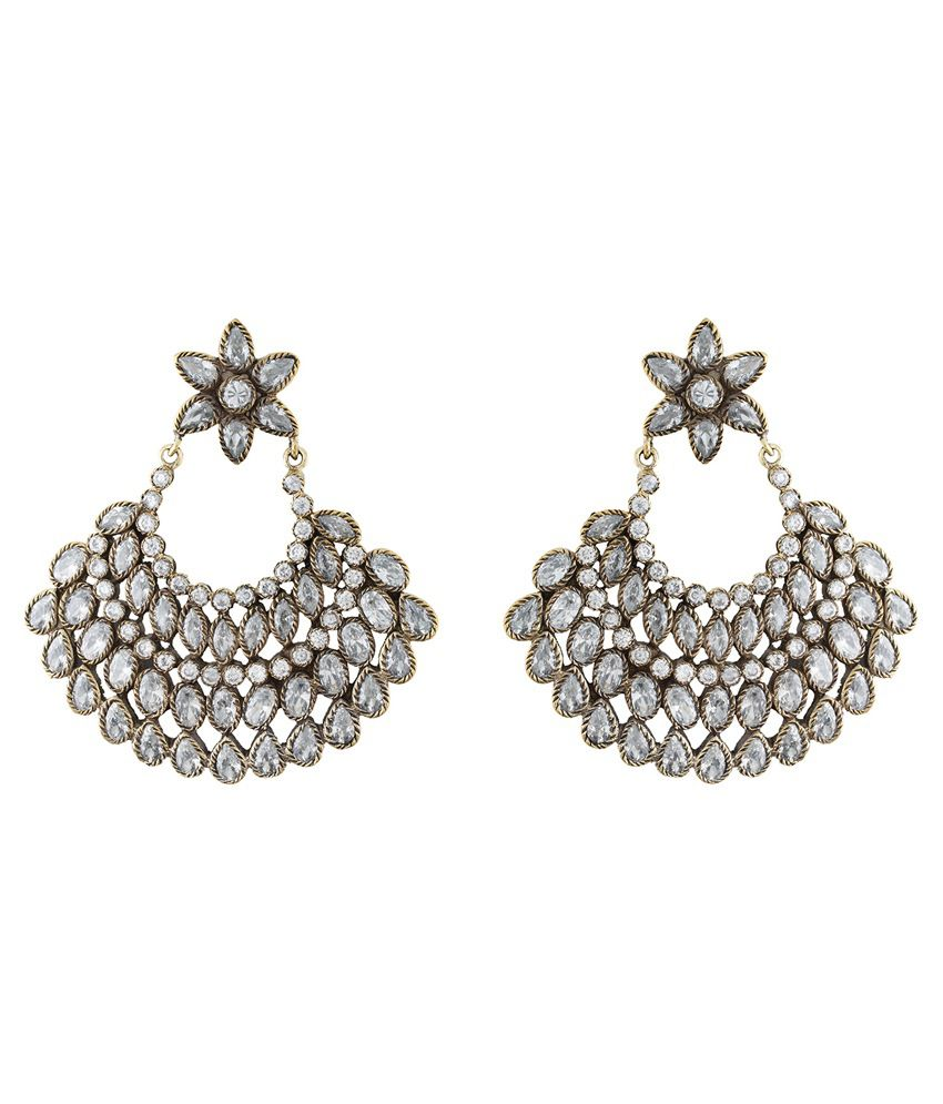 Chaahat Fashion Jewellery Antique Push Back Chandeliers