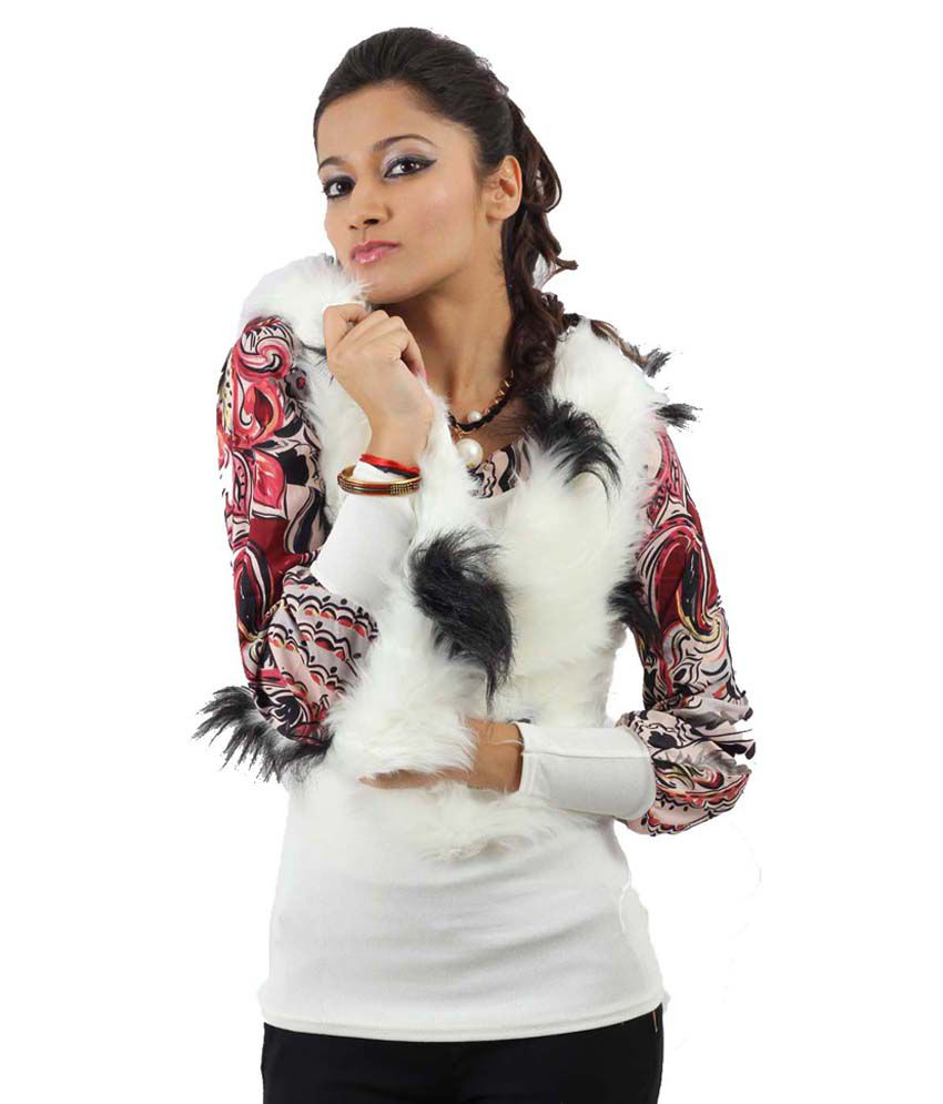 32fb5c621d Buy Fayona White Faux Fur Jackets Online at Best Prices in India - Snapdeal