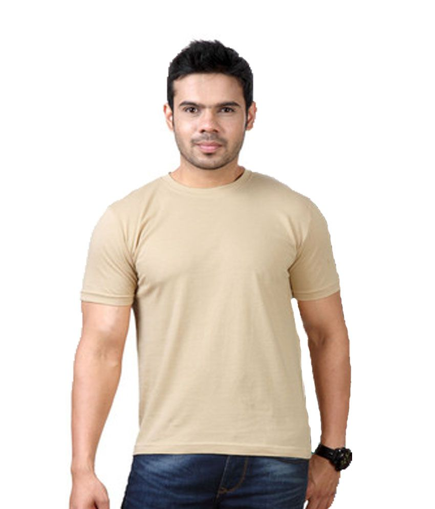 Purple Square Brown Cotton T-Shirt