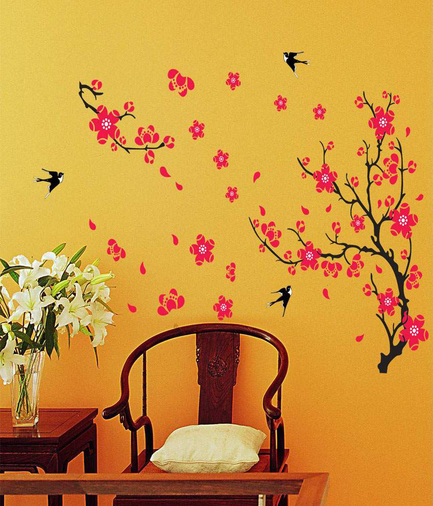 Wow Interiors And Decors animals & birds PVC Wall Stickers - Buy Wow ...