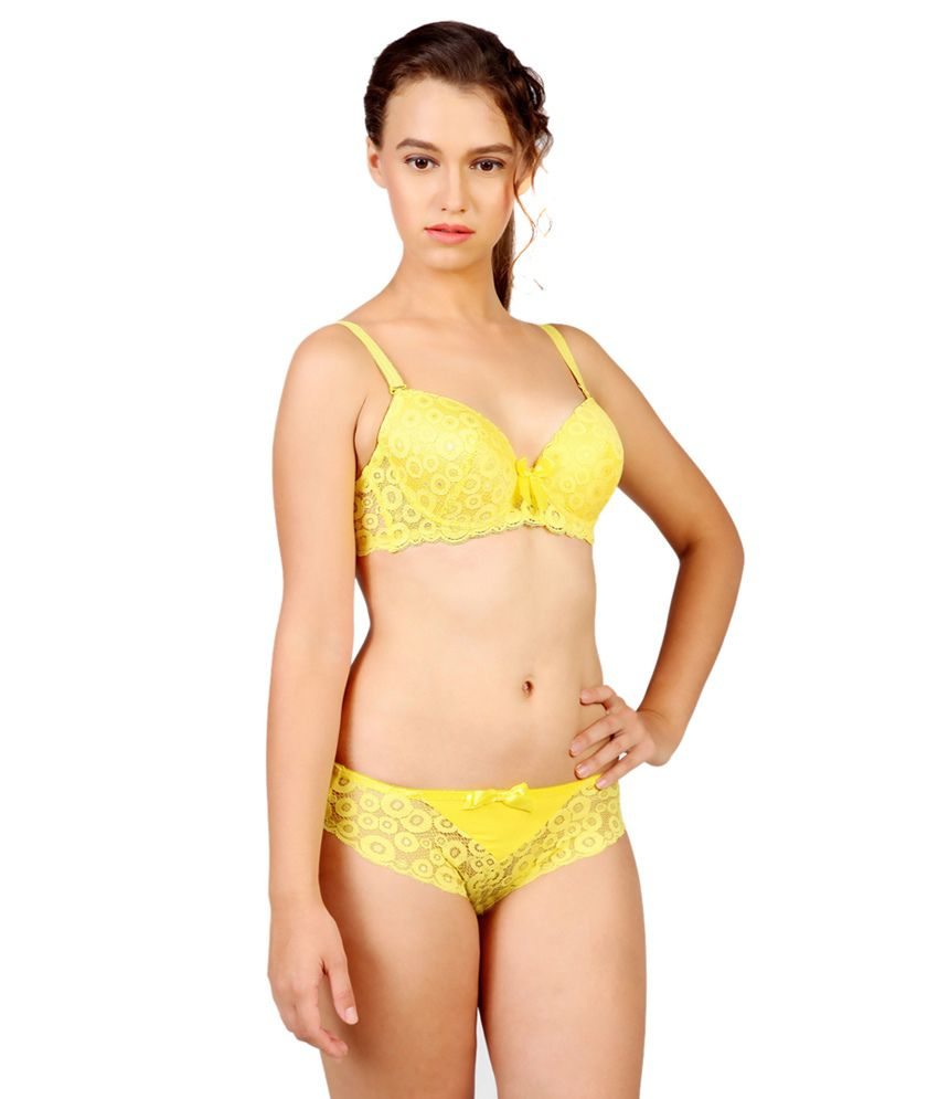 Buy De Soul Yellow Bra   Panty Sets Online at Best Prices in India -  Snapdeal d9c2337e1