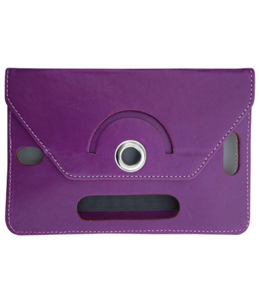 Fastway Flip Cover For verykool T742-Purple