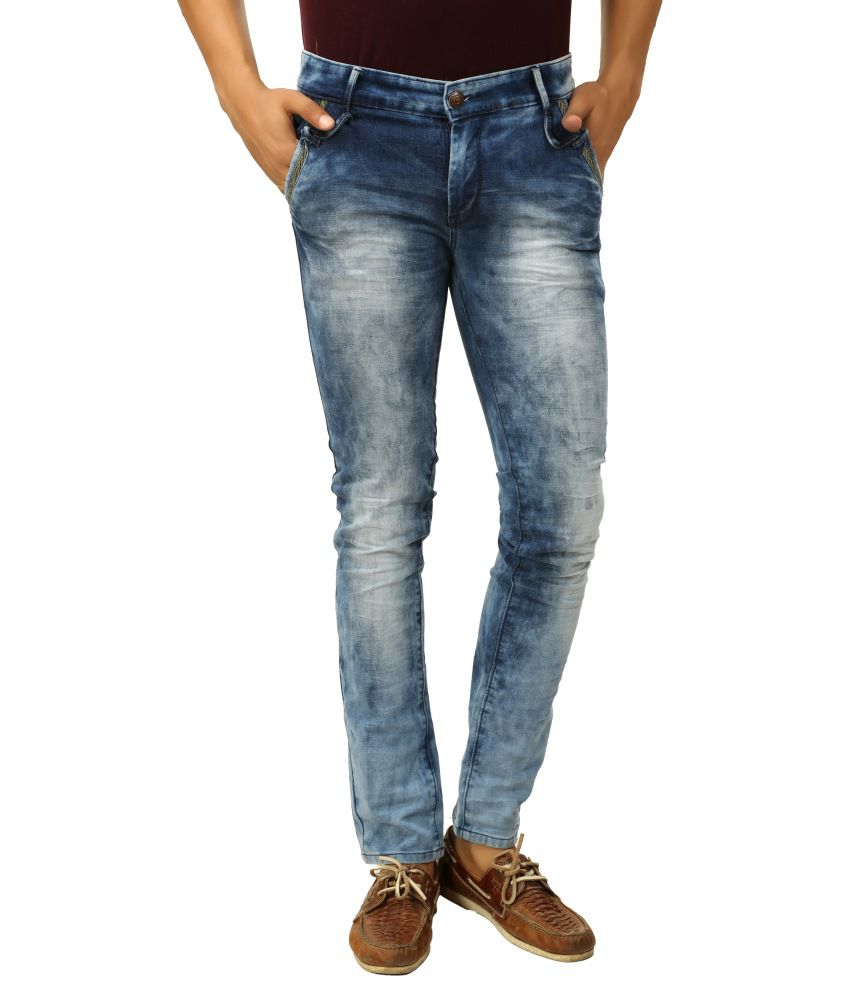 Advika Blue Tapered Fit Jeans