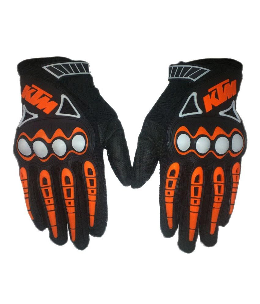 Motorcycle leather gloves india - Ktm Full Racing Biking Motorcycle Gloves