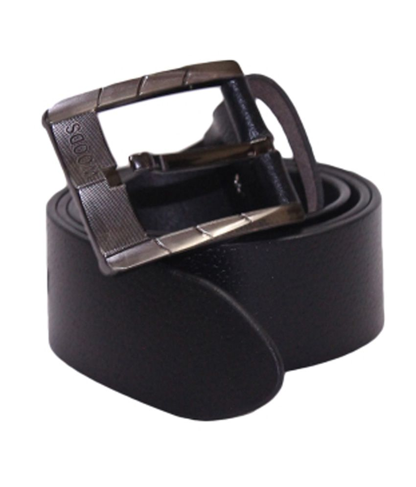 Woods Black Casual Single Belt For Men