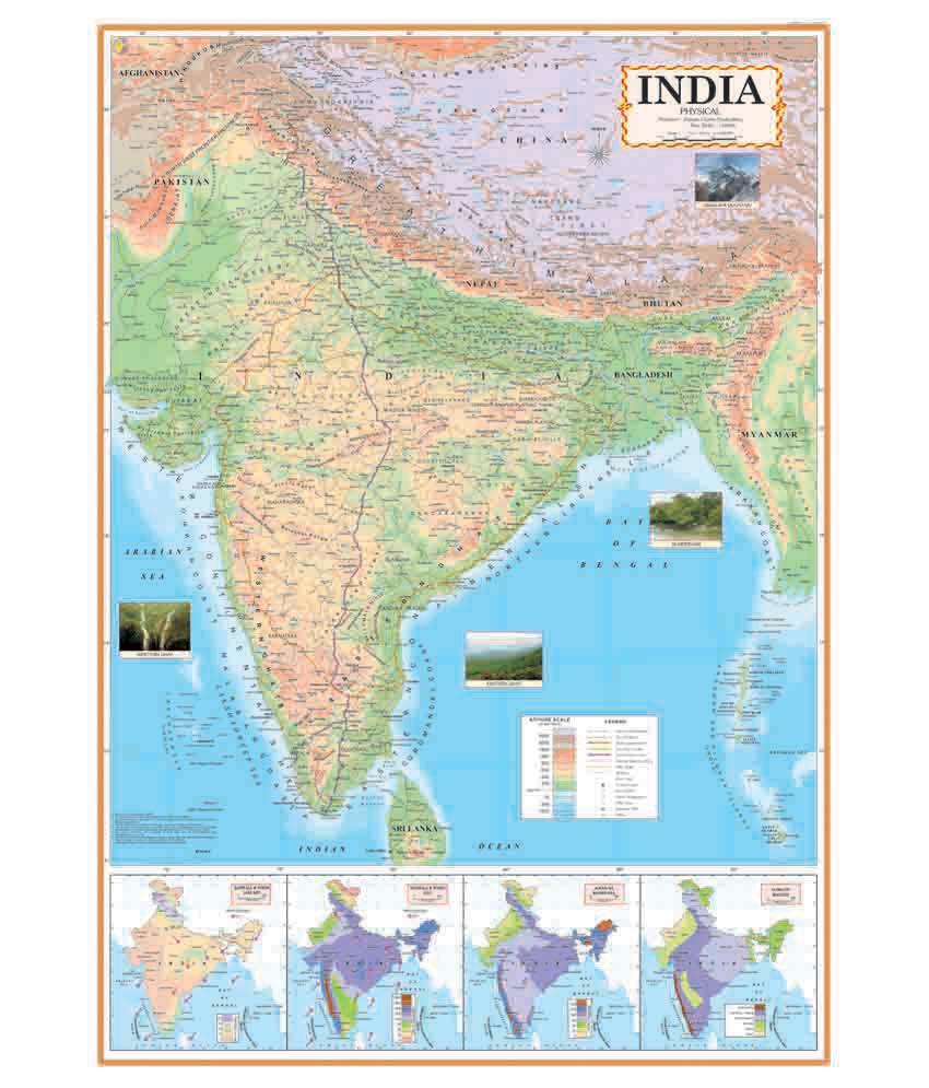 Ncp india physical map chart telangana included buy online at best ncp india physical map chart telangana included gumiabroncs Image collections