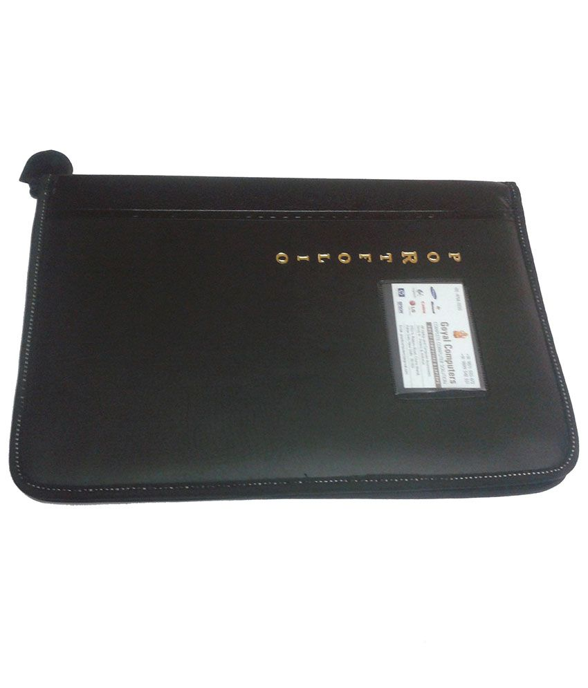 634cd573da9 Portfolio Black File Folder With 20 Leafs  Buy Online at Best Price in  India - Snapdeal