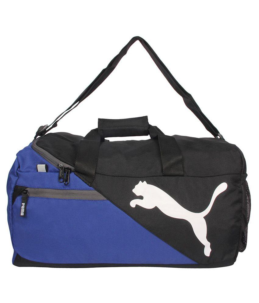 Puma Blue   Black Polyester Travel Bag - Buy Puma Blue   Black Polyester Travel  Bag Online at Low Price - Snapdeal 8a7067ab37247