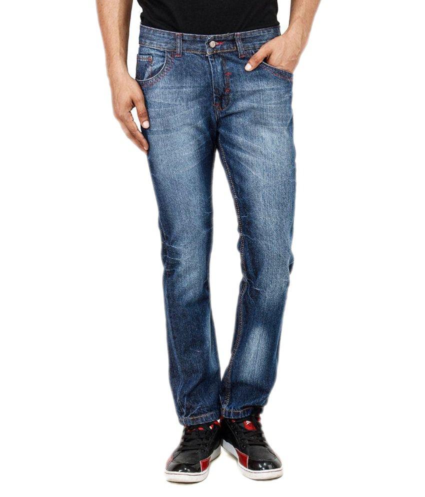 Uber Urban Blue Cotton Slim JitJeans