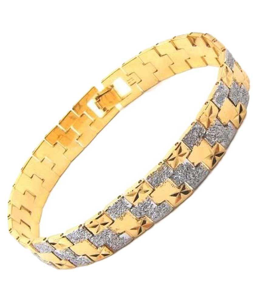 Anvi Jewellers Golden Brass Adjustable Bracelet
