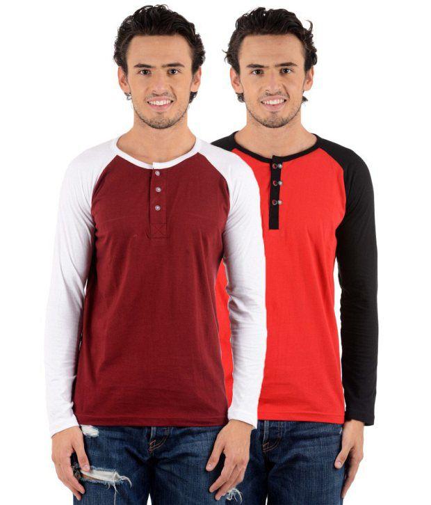 Big Idea Multi-color Combo of 2 Cotton Blend T-Shirts
