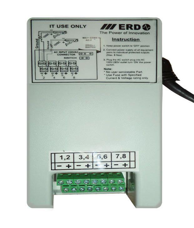 ERD LP-108 CCTV Power Supply for 8 Channel Price in India - Buy ERD ...