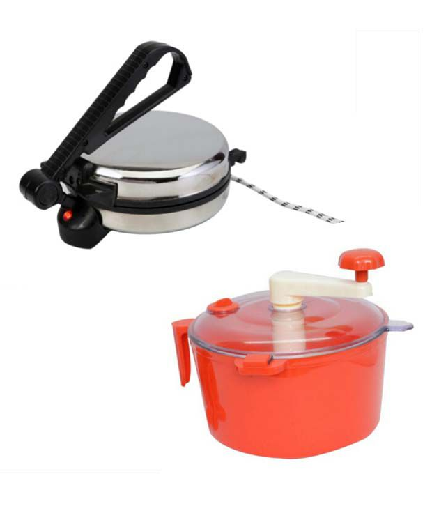 Superline Stainless Steel Roti Maker With Dough Maker