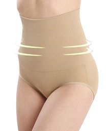 Piftif Seamless High-Waist Mid-Thigh Super Control Tummy Tucker Body Shaper Panty Skin