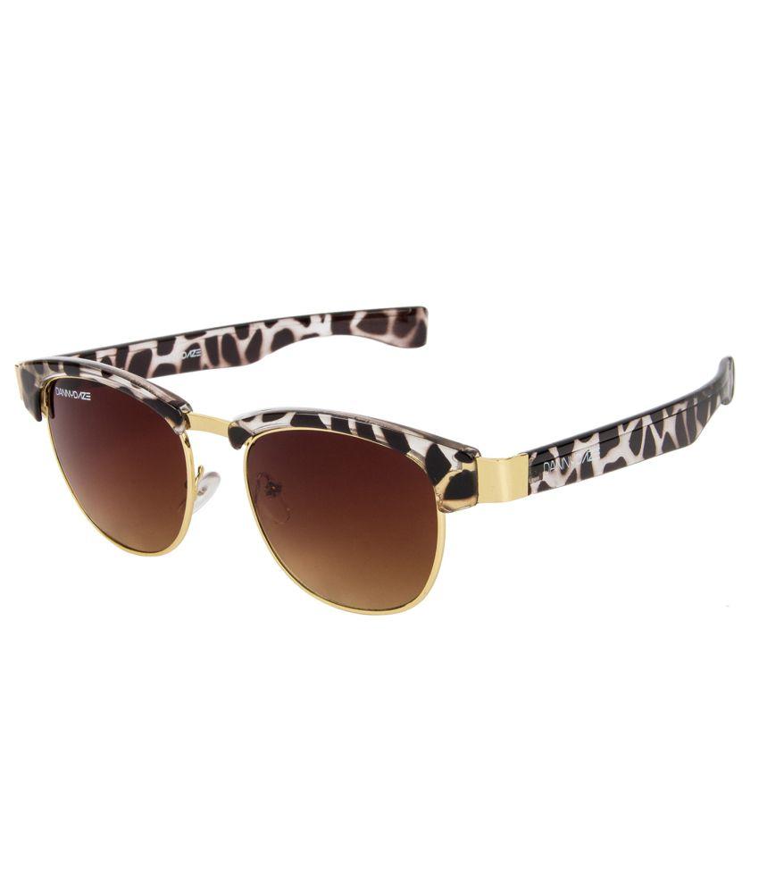 Danny Daze Brown Oversized Men Sunglasses