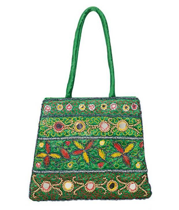 Foxytrend Green Canvas Cloth Shoulder Bags