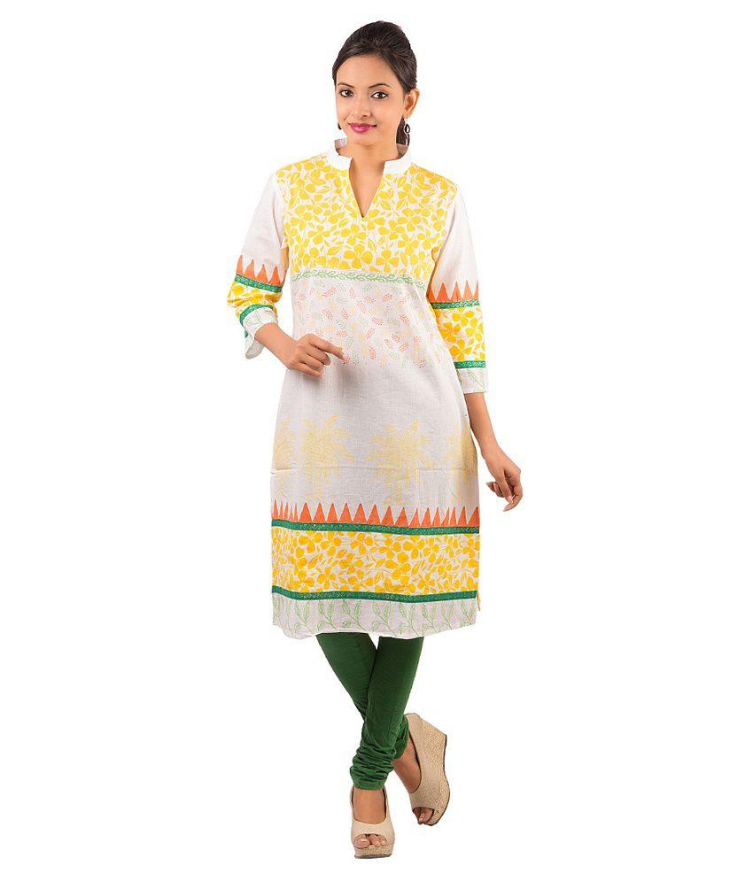 Piya Bawari Yellow Cotton Kurti