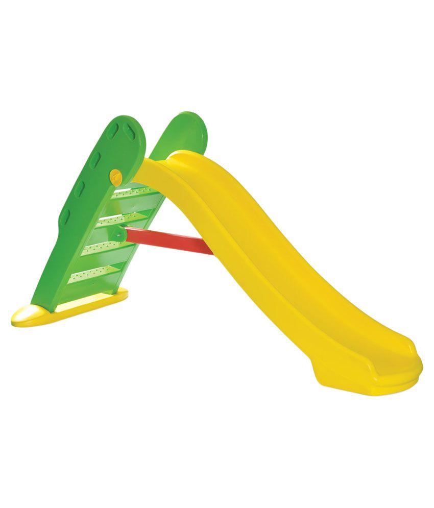 playgro yellow plastic slide and swing
