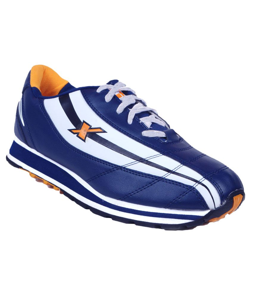 Sparx Blue And White Running Sports Shoes Art ASPARXSM58NBLUEWHITE