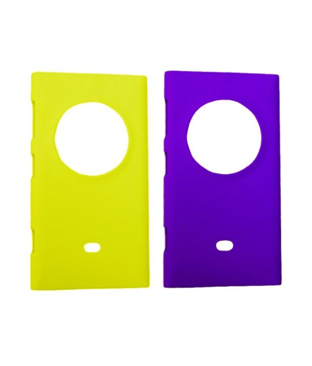 Winsome Deal Combo of Green and Purple Plastic Back Covers for Nokia Lumia 1020 (Pack of 2)